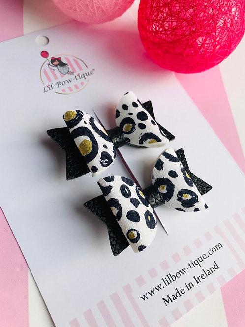 Leopard Pigtail Set