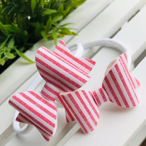 Red Candy Stripe Bow