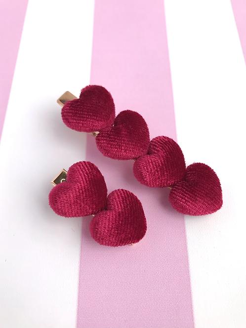 Love Heart Clip Set