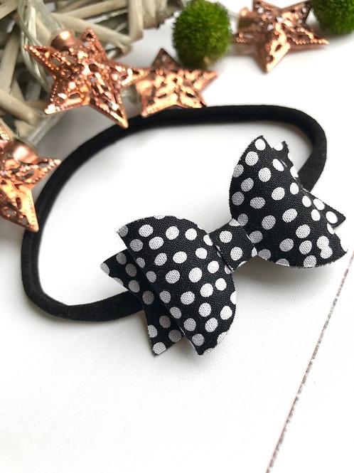 Black Dotty Bow