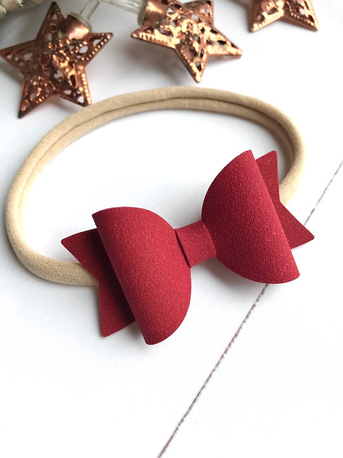 Suede Berry Bow