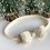 Thumbnail: Petite Cream Sparkle Bow