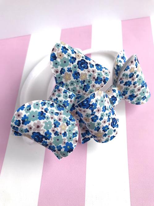 Blue Flower Bow