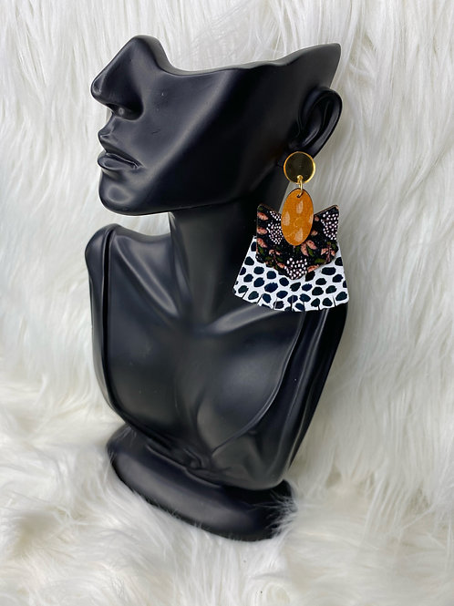 """YSL cheetah"" earrings"