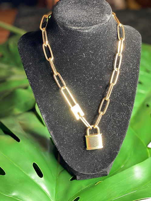 """""""Locked in."""" necklace"""