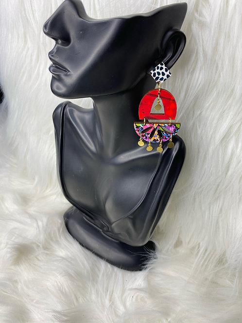 """""""party life"""" earrings"""