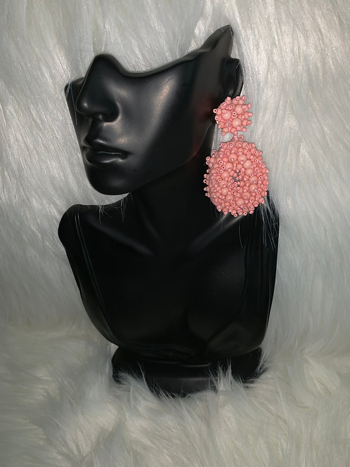 """Pink Hibiscus"" Earrings"