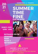 Summer Time FINE pop up event