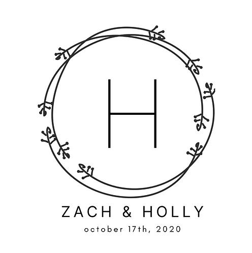 Wedding Logo - Black & White