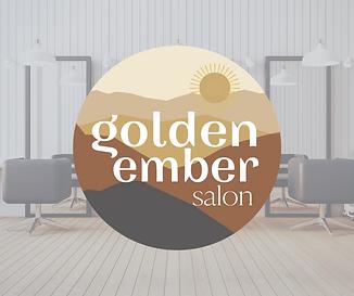 golden ember salon erie CO logo