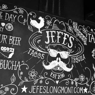 Jefe's chalkboard