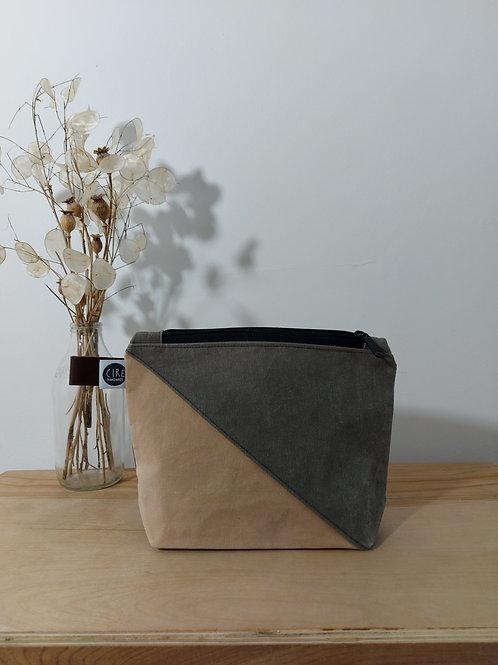 Small pink and grey washbag