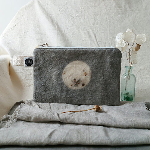 Moon with craters pouch