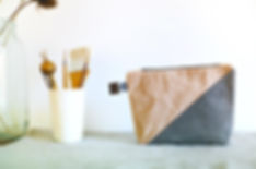 waxed cavas bag by Ciré