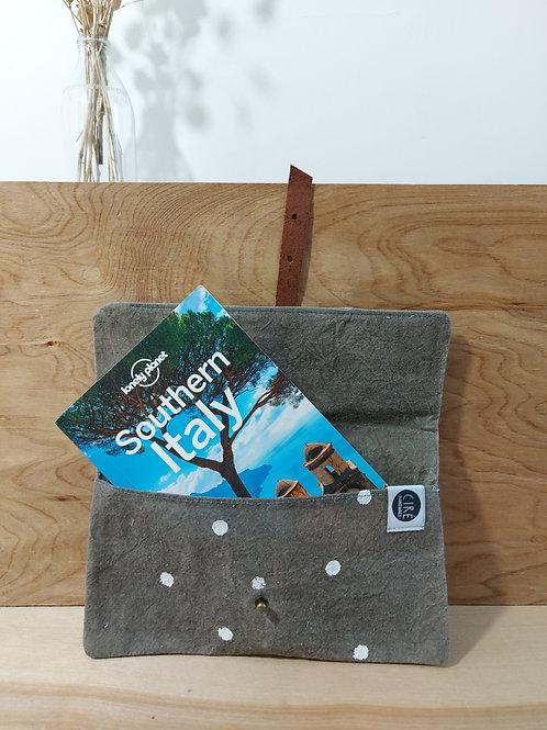 Book wallet, medium, grey