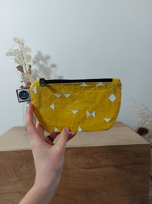 Coin Pouch, yellow print