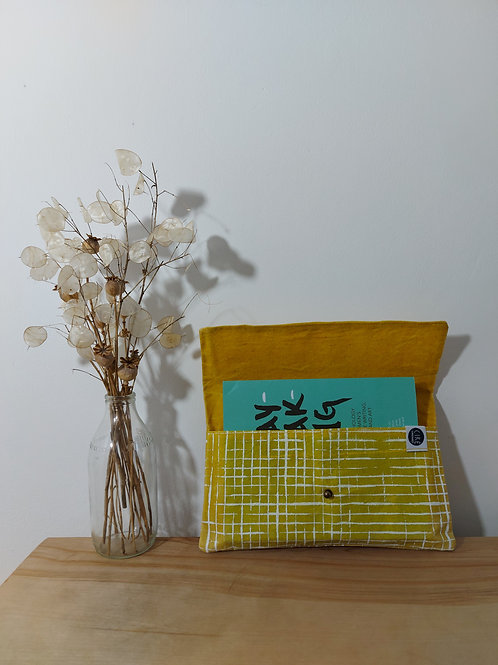 Book wallet, large, yellow