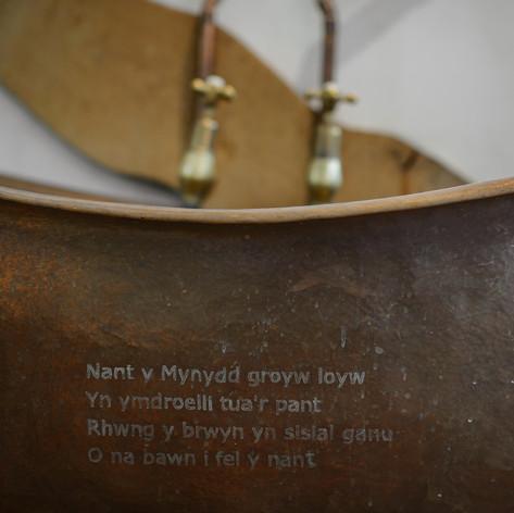 Free standing copper bathtub