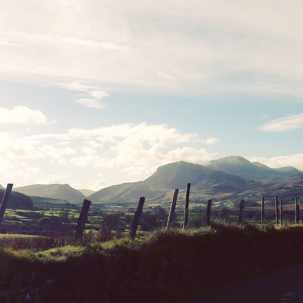 Roadside view of Cadair Idris, Mid Wales from the A470