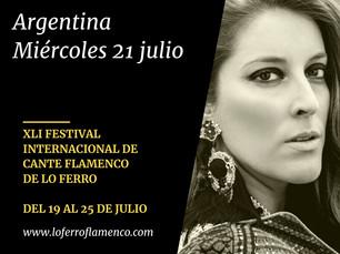 """""""Argentina primera confirmación de la XLI edición del Festival de Lo Ferro"""""""