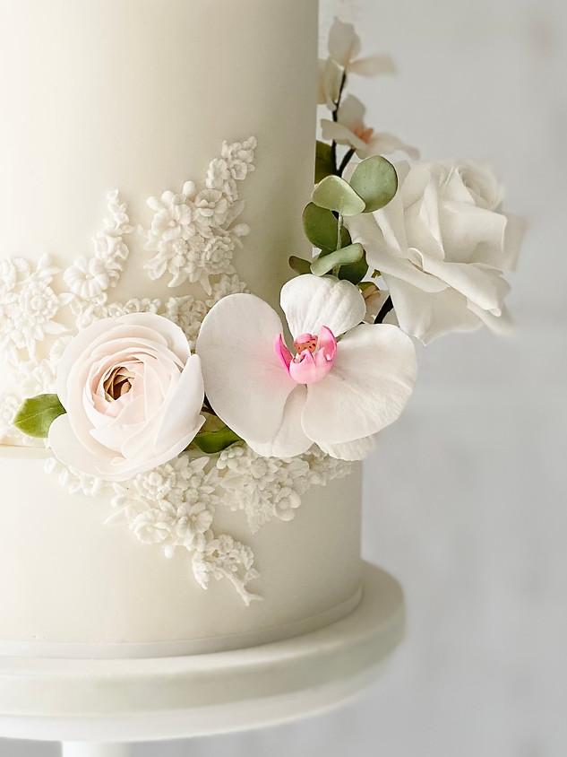 Orchid modern wedding cake.jpeg
