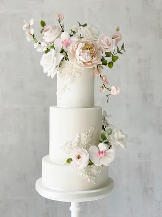 Modern spring floral wedding cake.jpeg