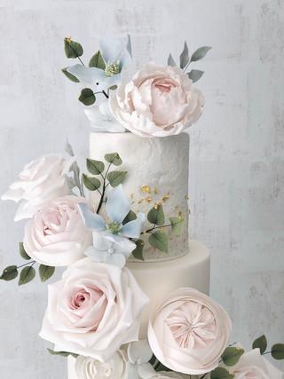 Soft Blue Wedding Cake