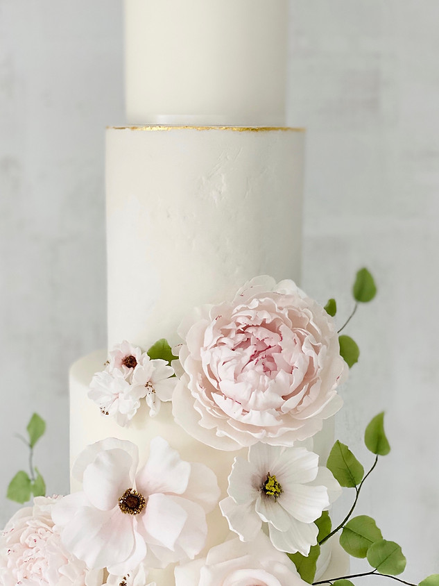 Stone effect modern wedding cake