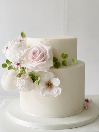 Floral intimate wedding cake .jpeg