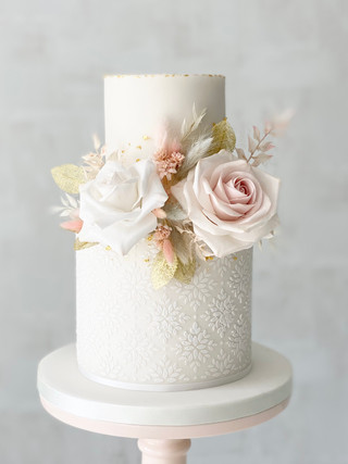 Two-tier floral wedding cake.jpeg