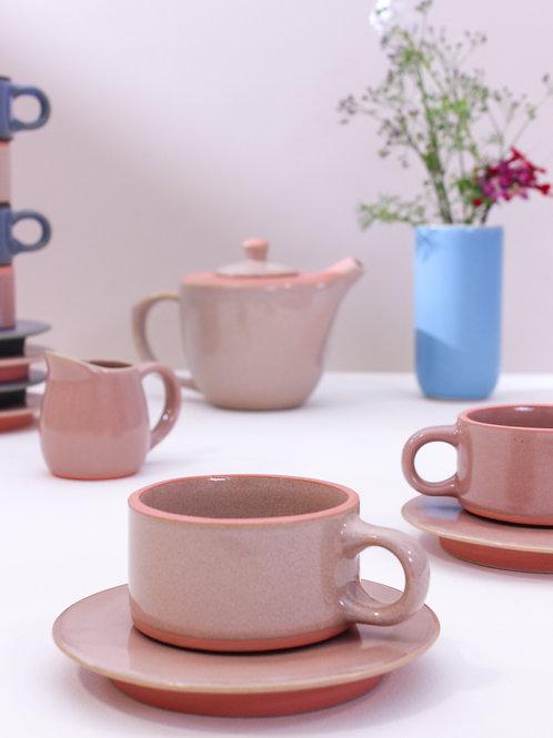 Ananda Mug & Saucer - Blush Pink