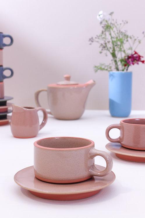 Anăndă Mug & Saucer - Blush Pink