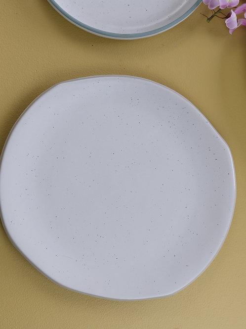 Organic Polygon Plate - White