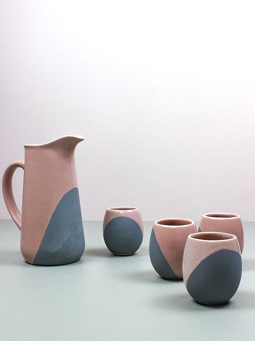 Neer Drinkware Set : Blush Pink (4 small tumblers, 1 pitcher)