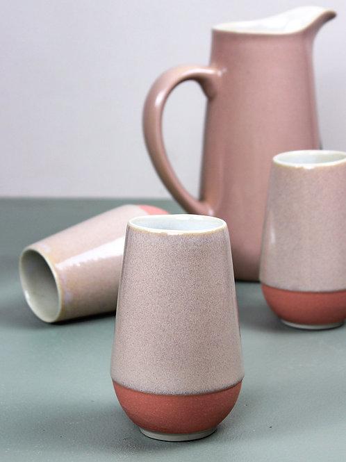 Neer Drinkware Set : Blush Pink (4 tall tumblers, 1 pitcher)