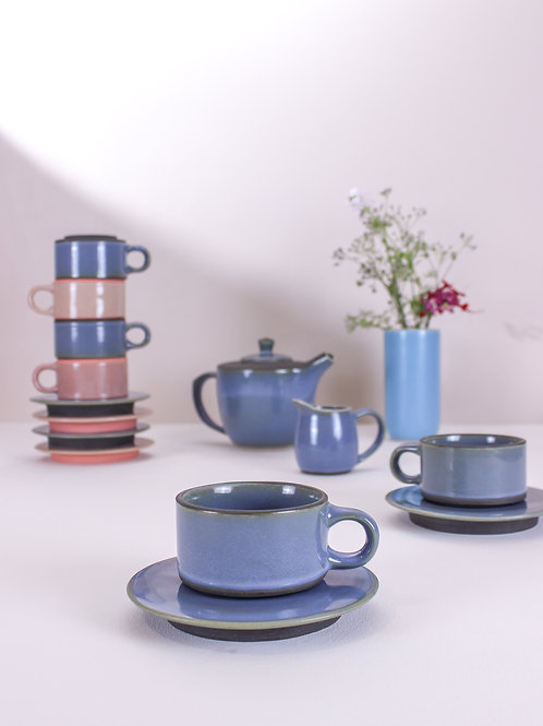 Ananda Mug & Saucer - Cool Blue