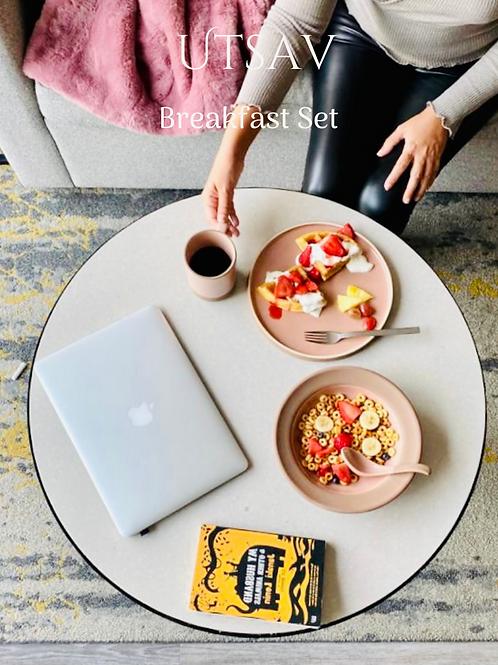 Gift Box: Breakfast Set, Blush Pink