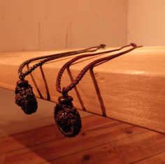 菩提樹手編みネックレス