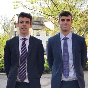 Tom Sweetnam ( Left) & Archie Barrow (Right) Founders of Kit 4 Kenya.