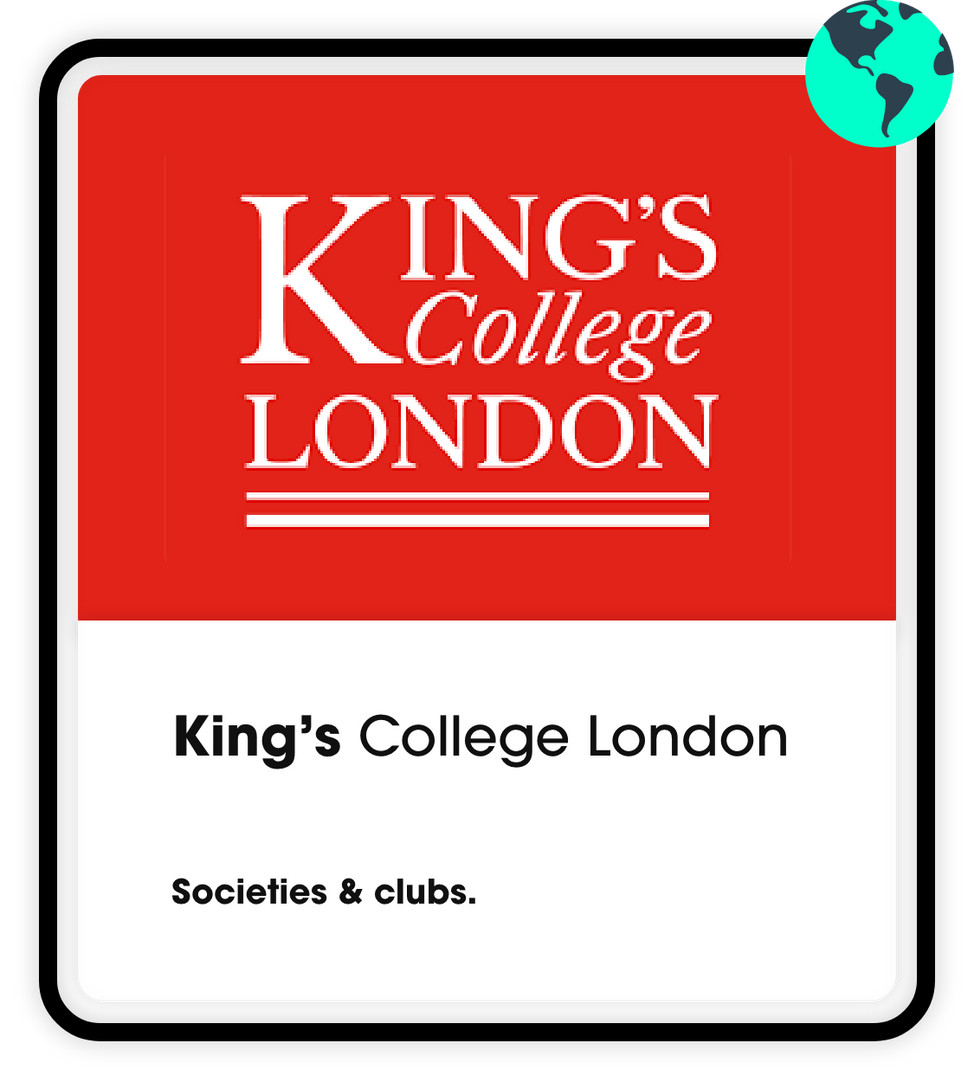 Kings College Societies