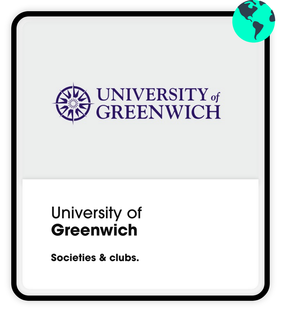 university of greenwich societies