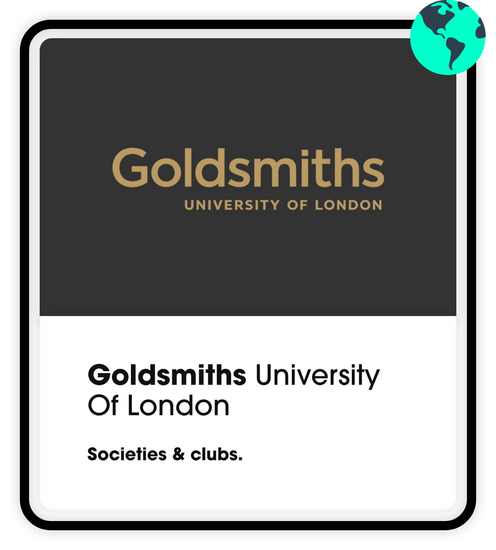 goldsmiths societies