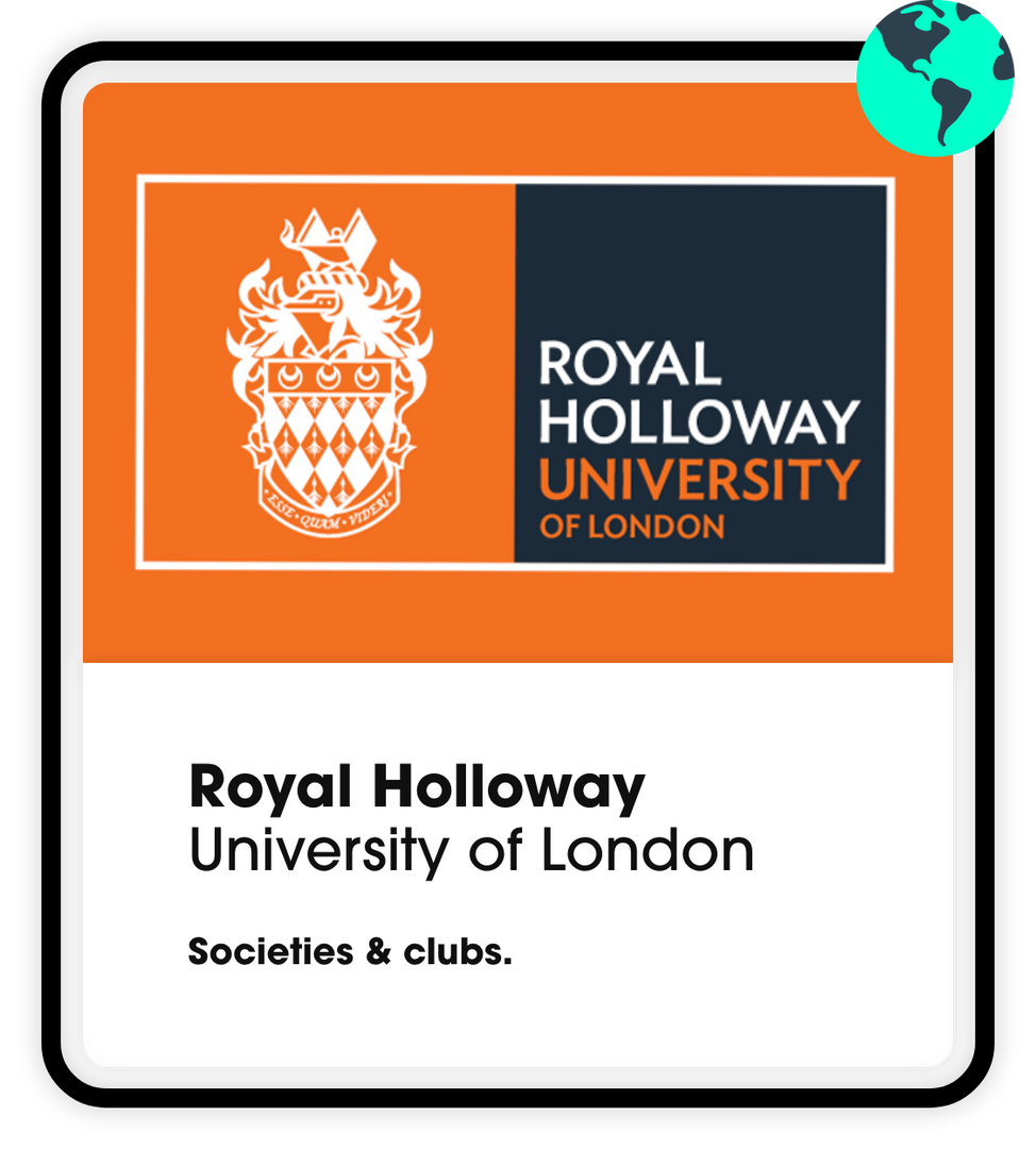 ROyal holloway university societies