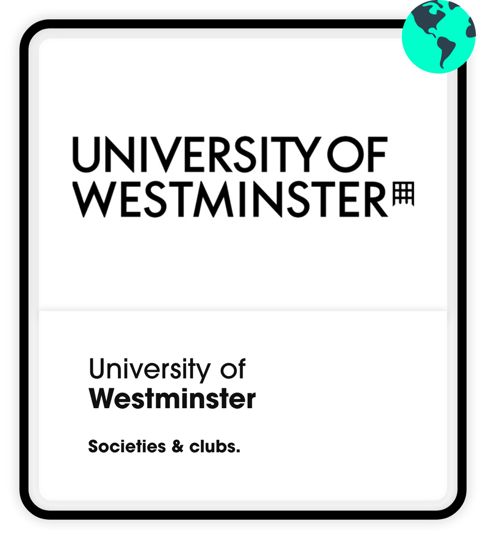 University of westminster societies