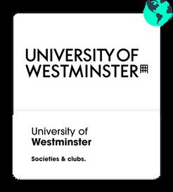 University of westminster societies