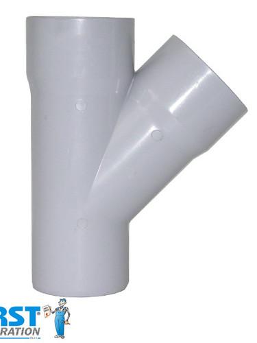 Тройник 45 First Plast 125 Серый