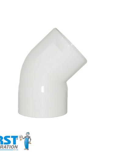 Колено 45 First Plast 125 Белое