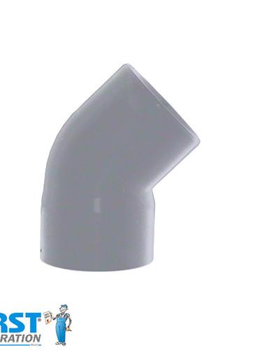 Колено 45 First Plast 125 Серое