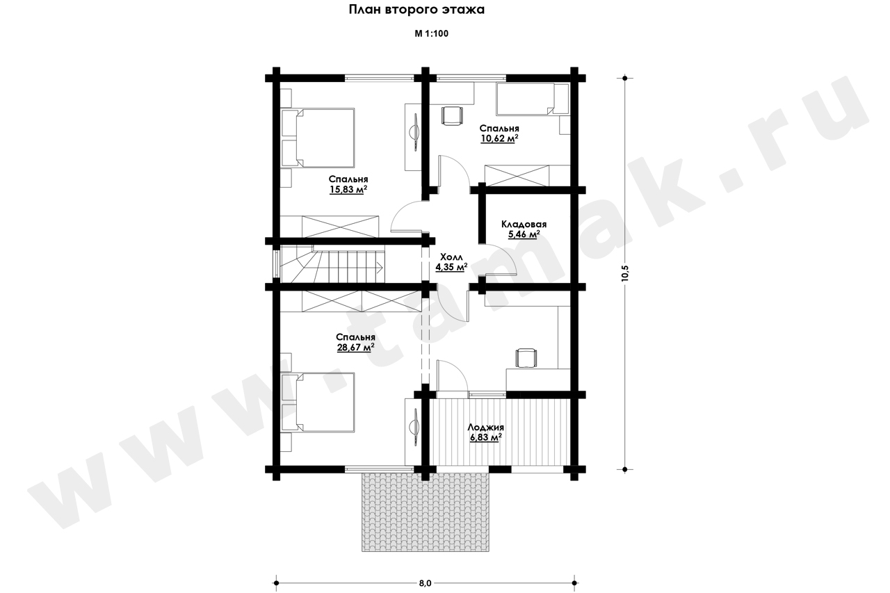 Casă 149 m.p. - Planul etajelor