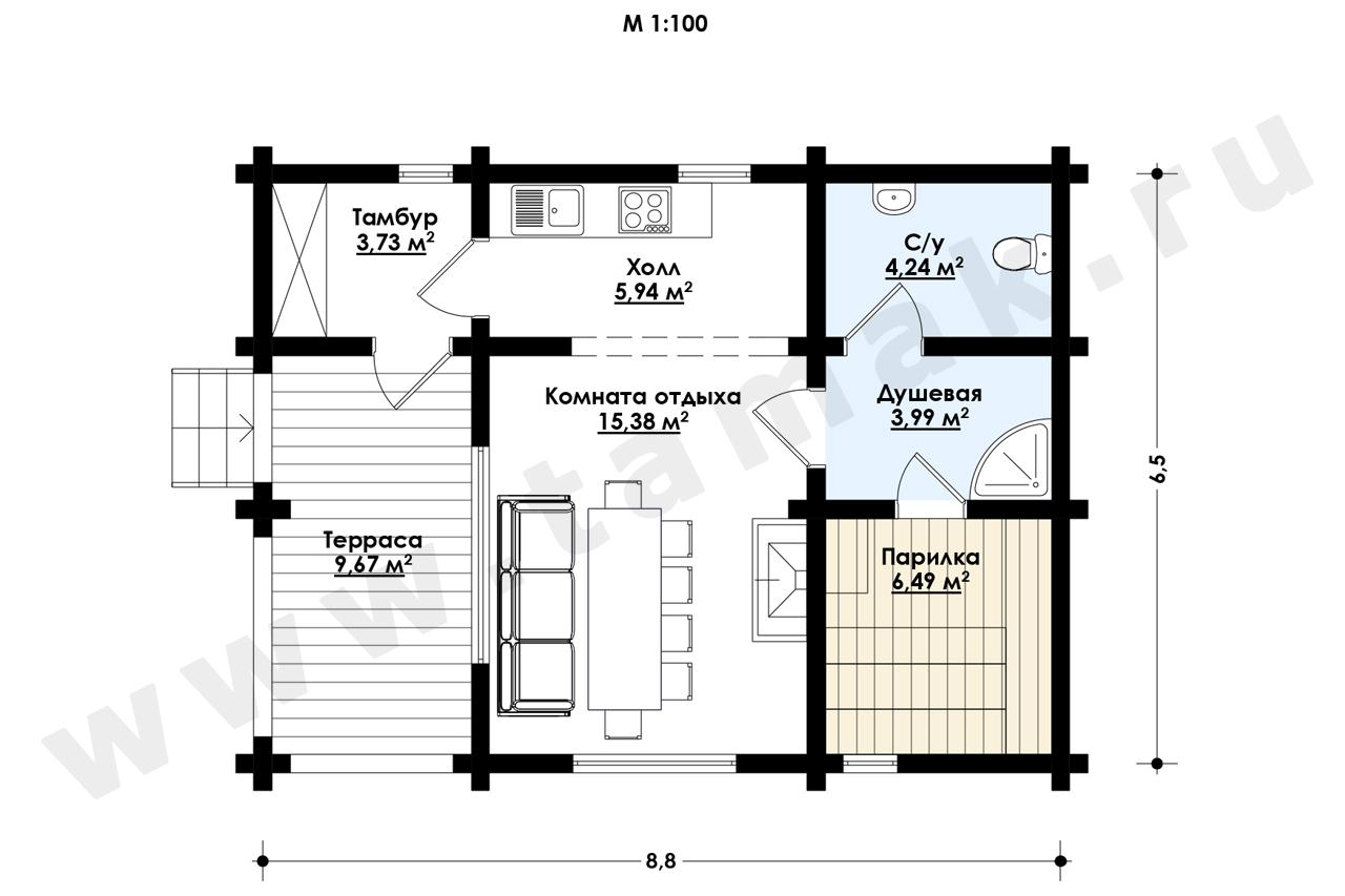 Baie 49 m.p. - Planul etajelor